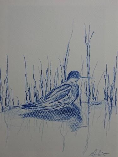 Petit oiseau dans les roseaux